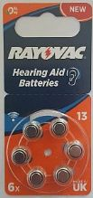 Rayovac®  13 / PR48 1.45v Zinc Air Hearing Aid Battery - 6 Pack